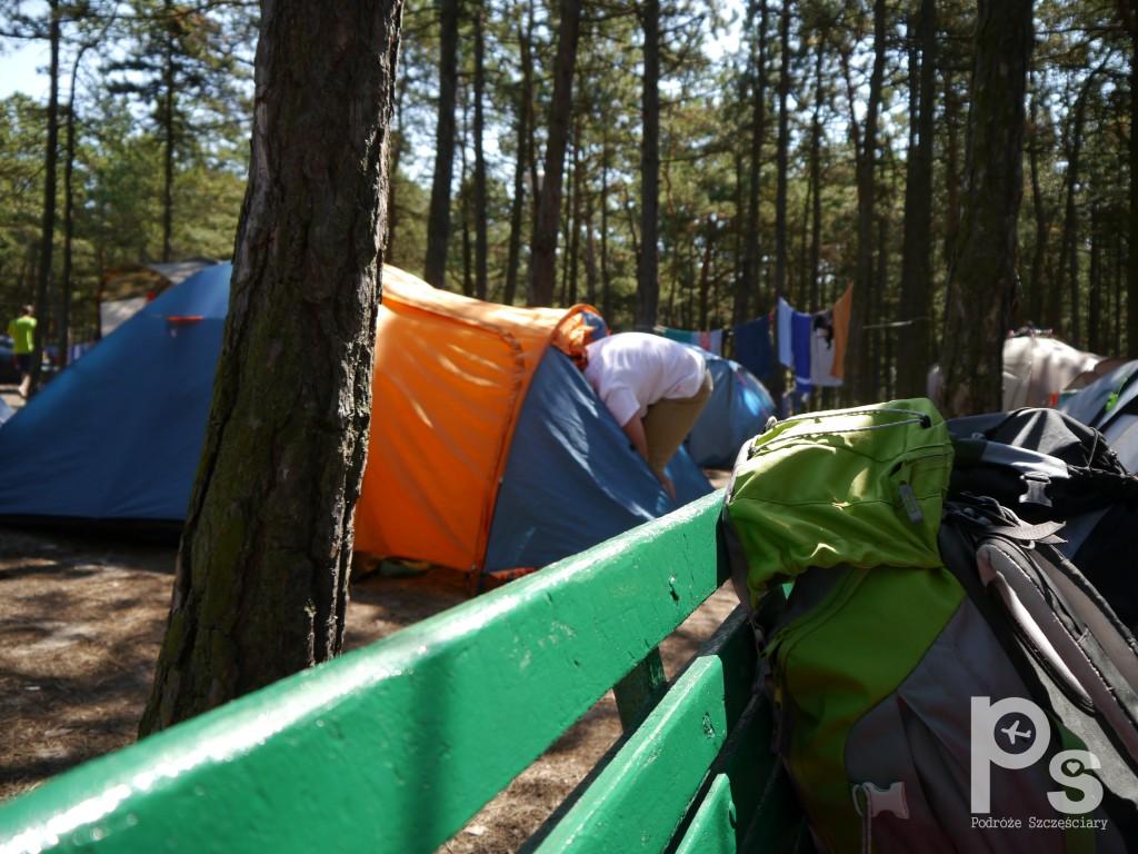 "Pole namiotowe na campingu ""Stogi"" nr 218 w Gdańsku"