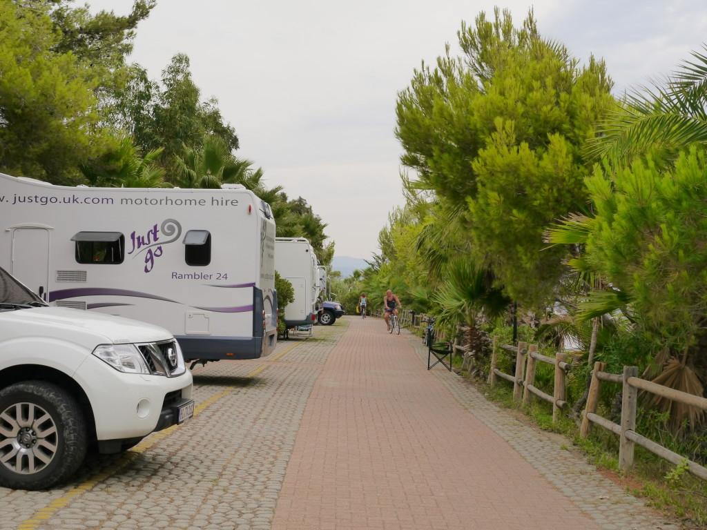 Camping Villaggio dei Fiori Sanremo- ścieżki