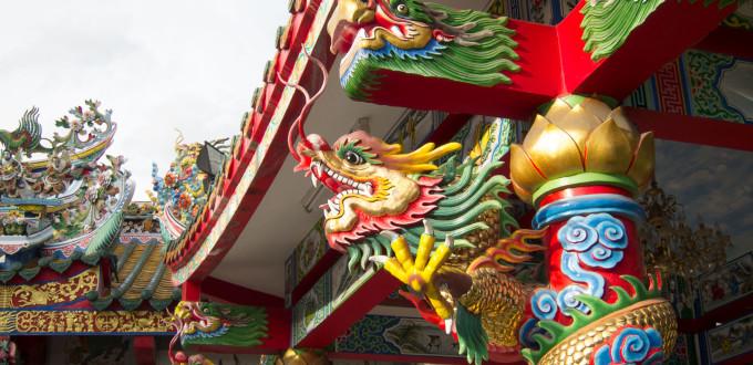 Chińskie świątynie w Chinatown w Bangkoku