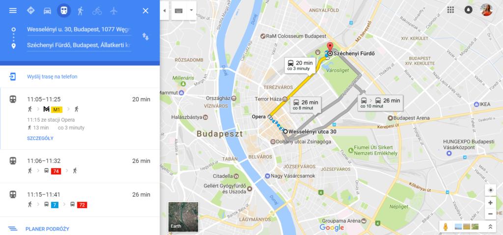 Jak dojechać do term Széchenyi Budapeszt