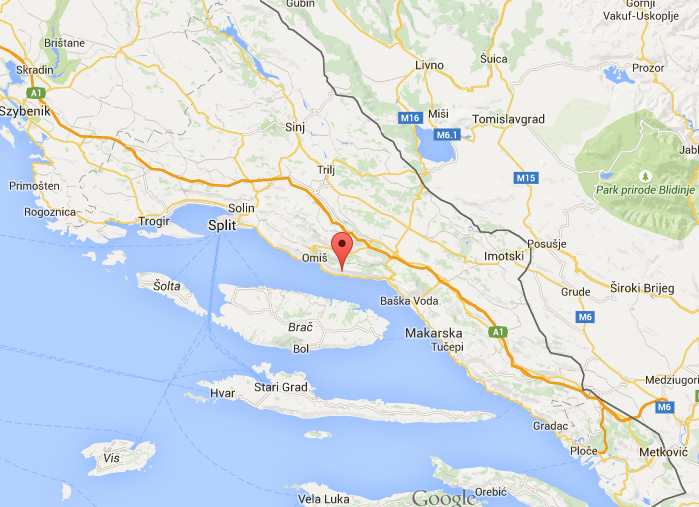 "Campingi w Chorwacji- Camping ""Sirena"" Lokva Rogoznica mapa"