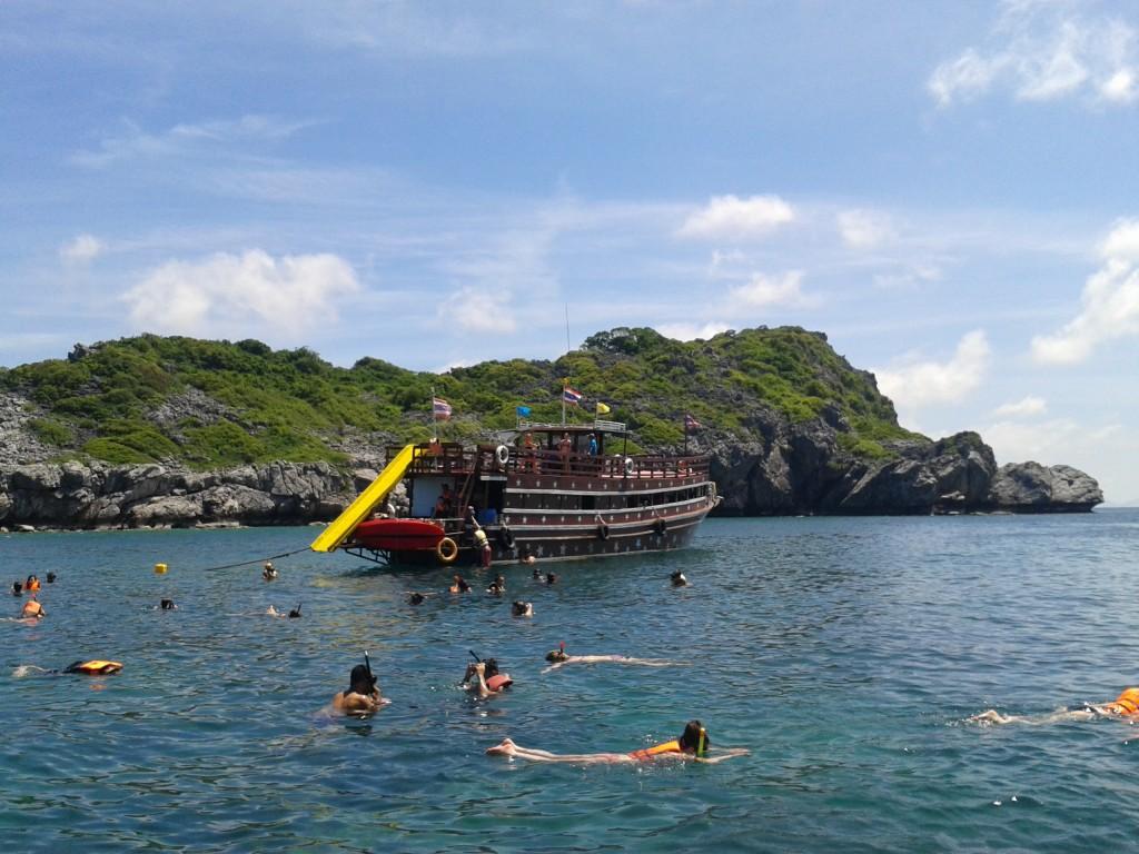 Ang Thong National Marine Park w Tajlandii Ludzie, ludzie, ludzie!
