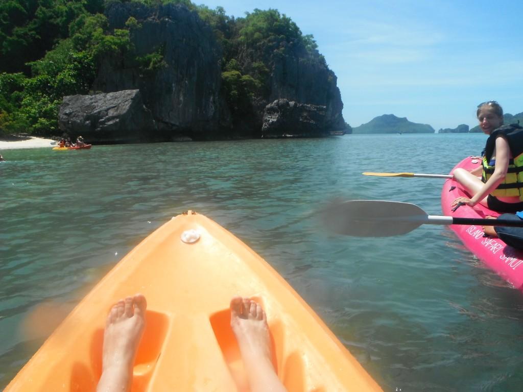 Ang Thong National Marine Park w Tajlandii Wiosłowanie mamy we krwi ;)