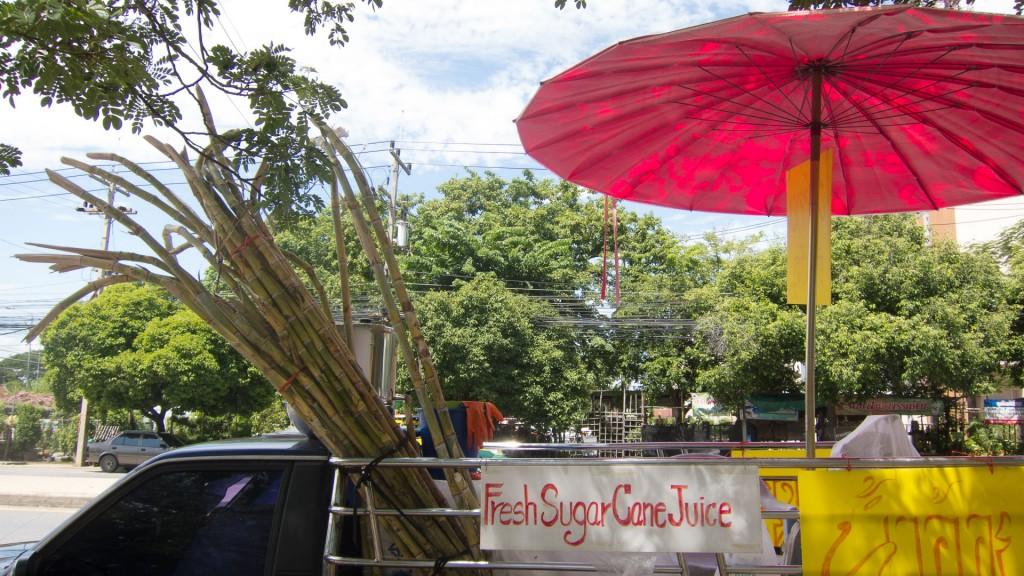 Ayutthaya Świeży sok z trzciny cukrowej :)