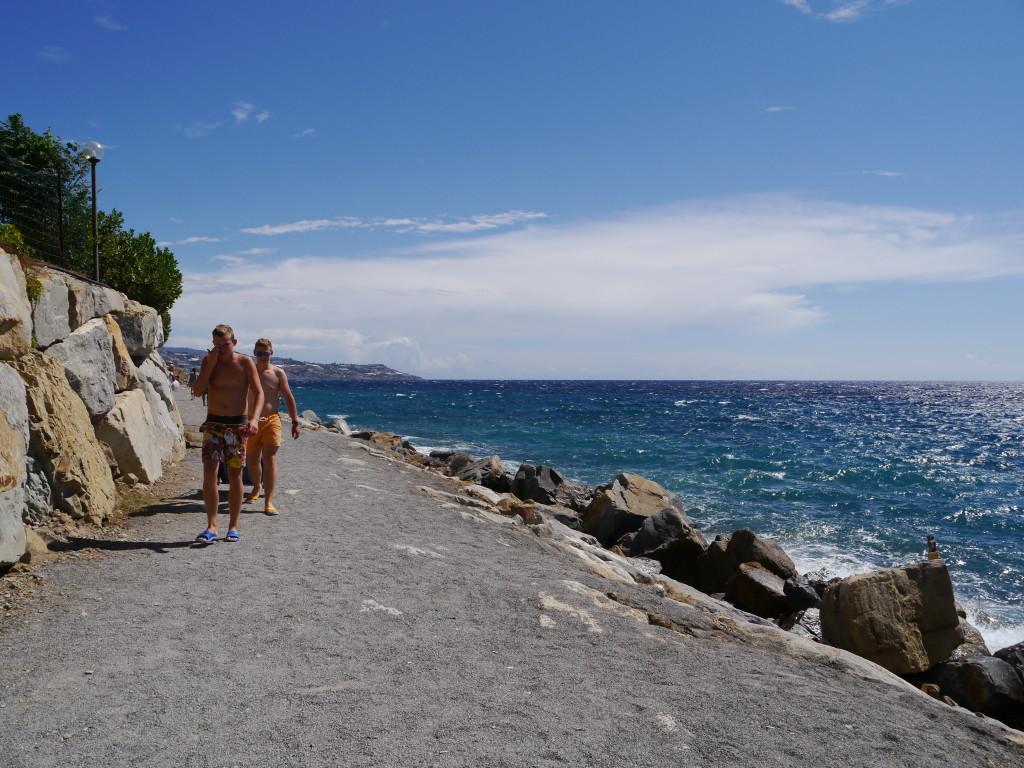 """Camping Villaggio dei Fiori Sanremo- dojście na """"patelnię"""""""