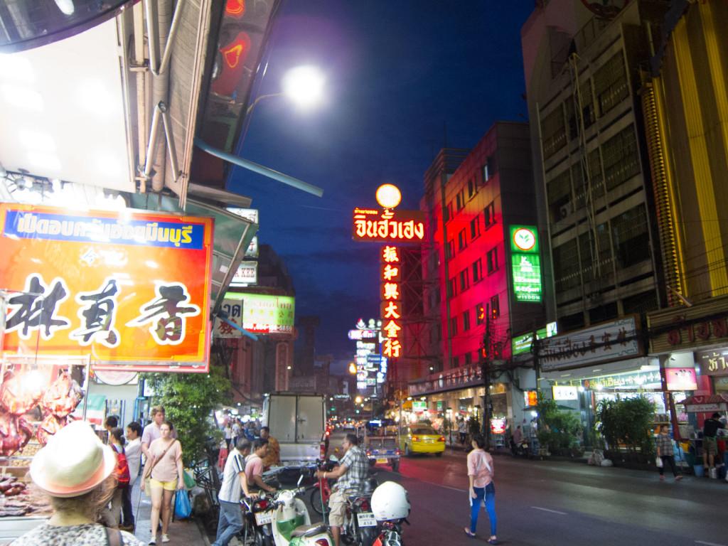 Chinatown Bangkok nocą