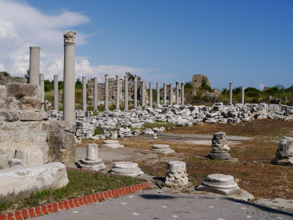 Ruiny w Side w Turcji