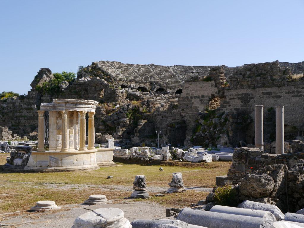 Amfiteatr w Side w Turcji