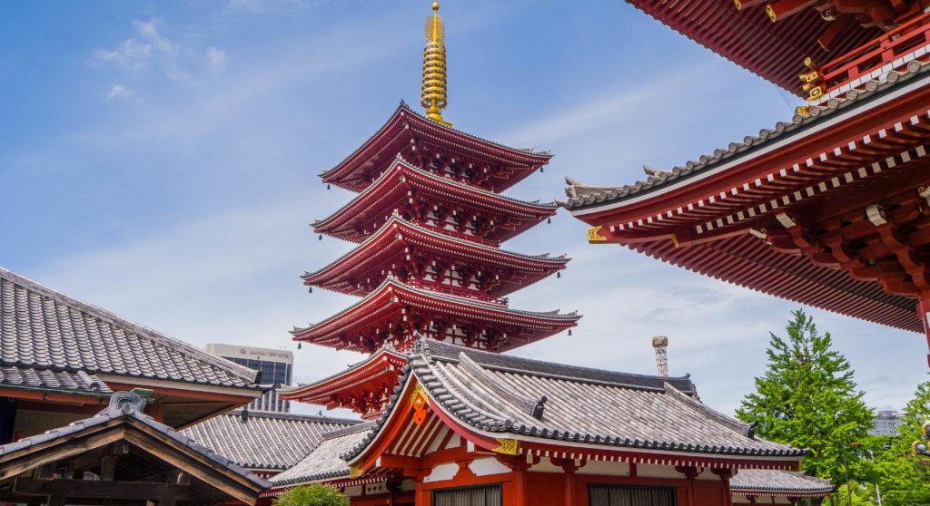 Asakusa Tokio Japonia - Pagoda