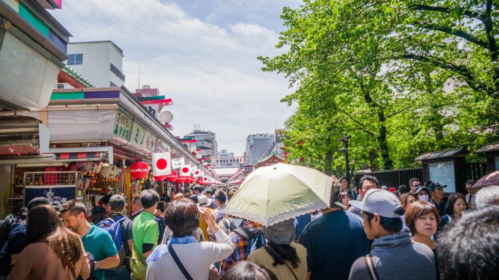 Asakusa Tokio Japonia - Nakamise-dori