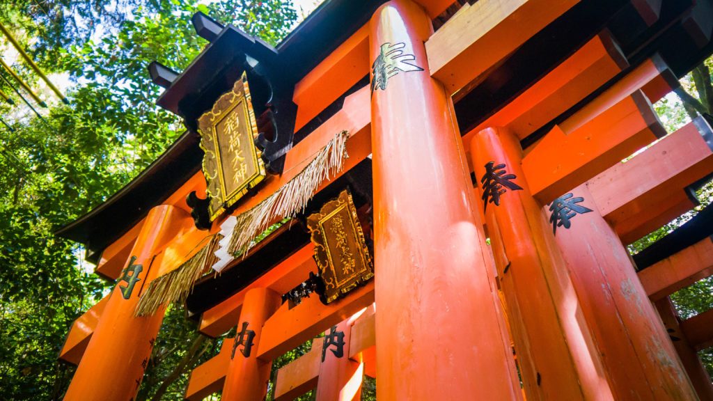 Fushimi Inari Shrine w Kyoto - tysiące czerwonych bram tori w Japonii
