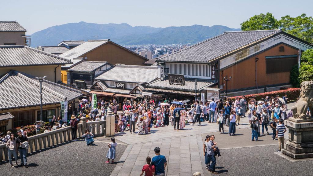 Świątynia Kiyomizu-dera w Kyoto (Japonia) Higashiyama
