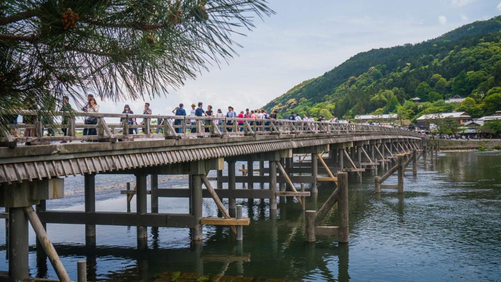 Most Togetsukyo w Arashiyama Kyoto